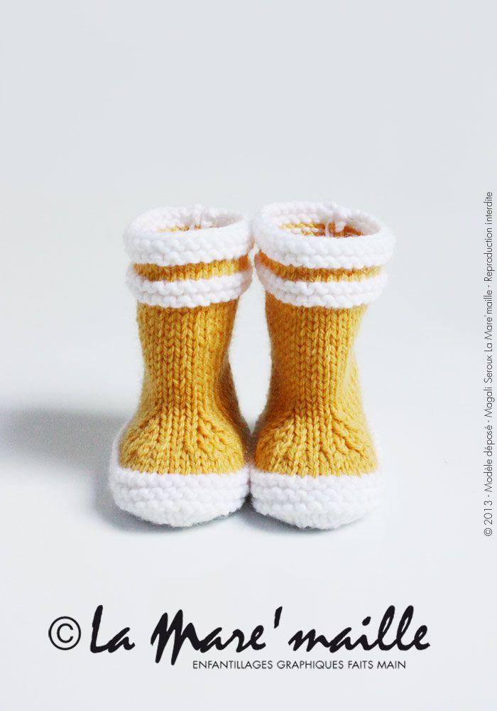 La mar maille bottes tricot