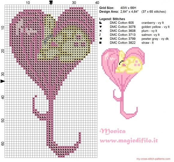 free pattern my little pony hearts