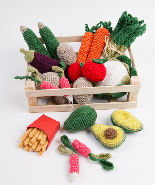crochet aliments diy legumes-