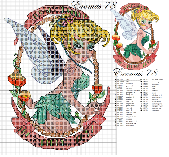 Cross stitch disney tattoo trilli pin up