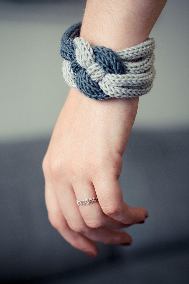bracelet tricot knit