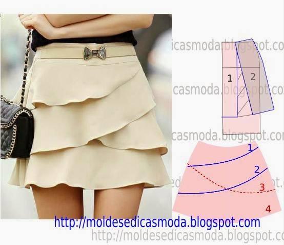 Patron jupe pattern skirt