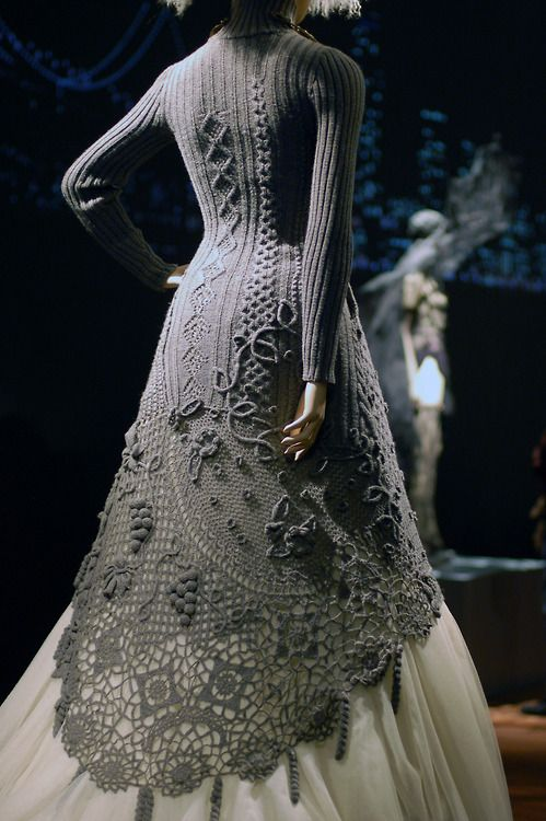 jean-paul gaultier knitted crocheted dress