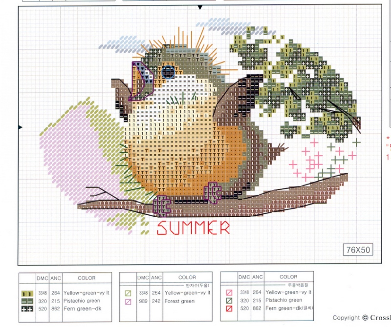 grille point de croix saisons pattern cross stitch seasons