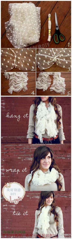 diy écharpe scarf