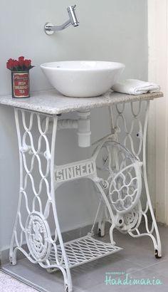 lavabo salle de bain machine à coudre