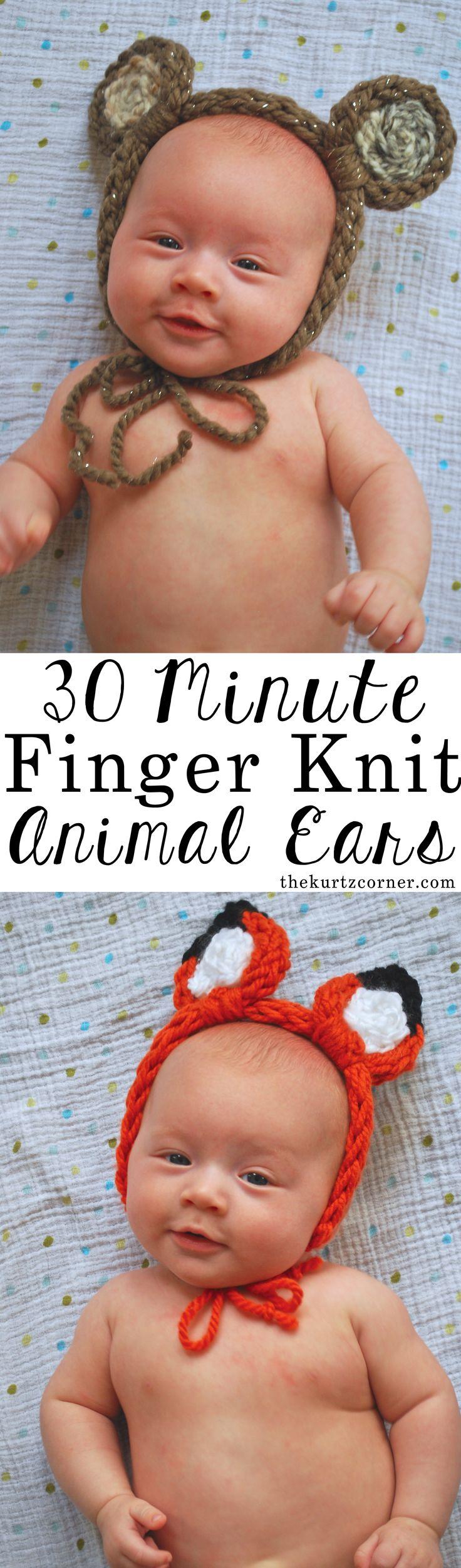 oreilles animaux tricot bébé