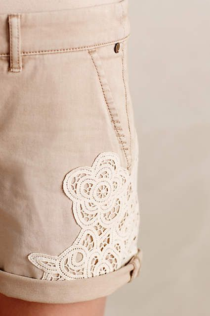 customisation short dentelle