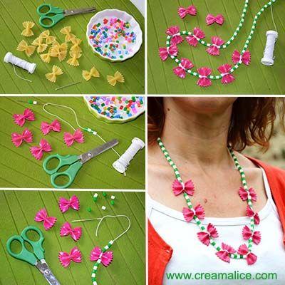 collier de nouilles fête des mères