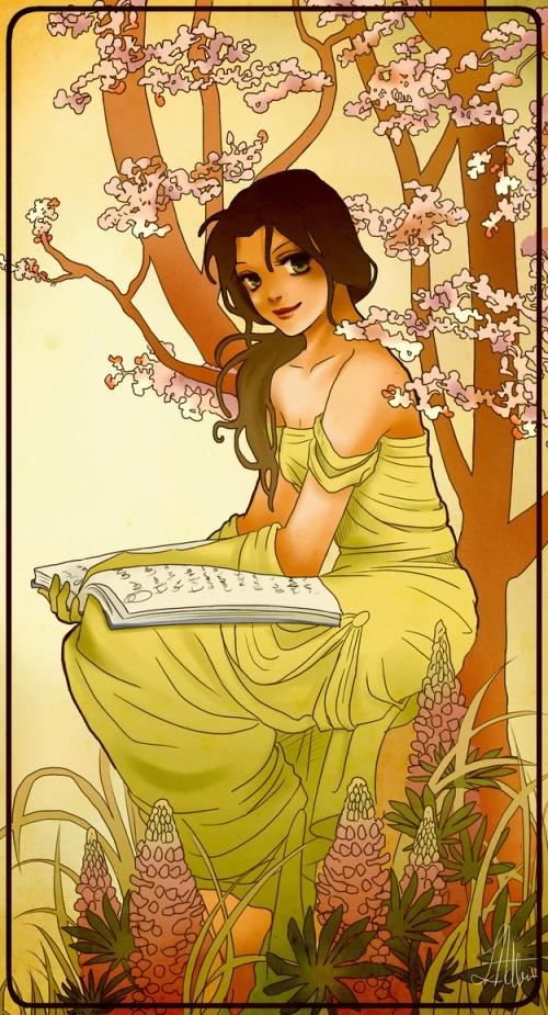 princesse disney style mucha belle
