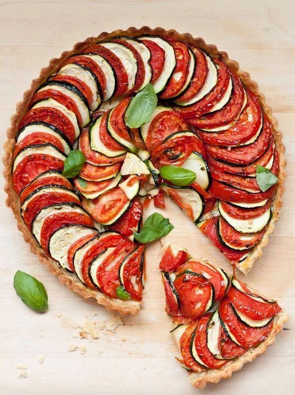 tarte estivale tomate courgette