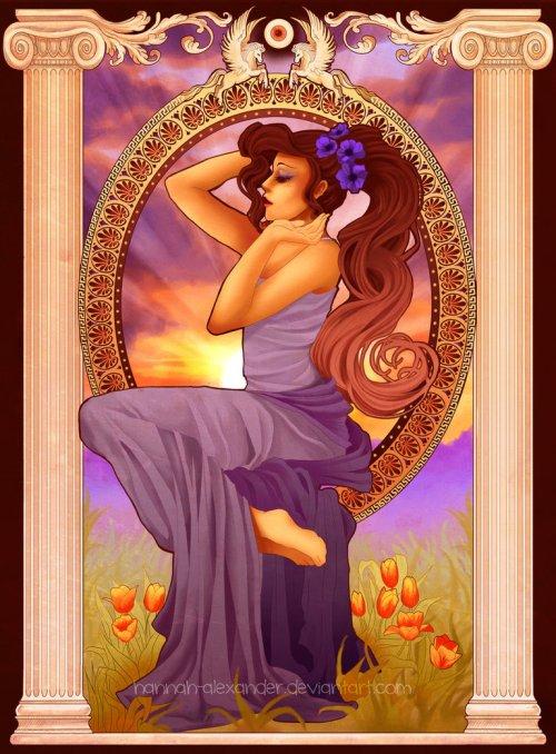 princesse disney style mucha megara