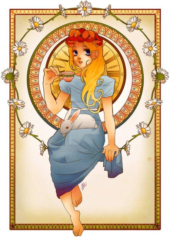 princesse disney style mucha alice