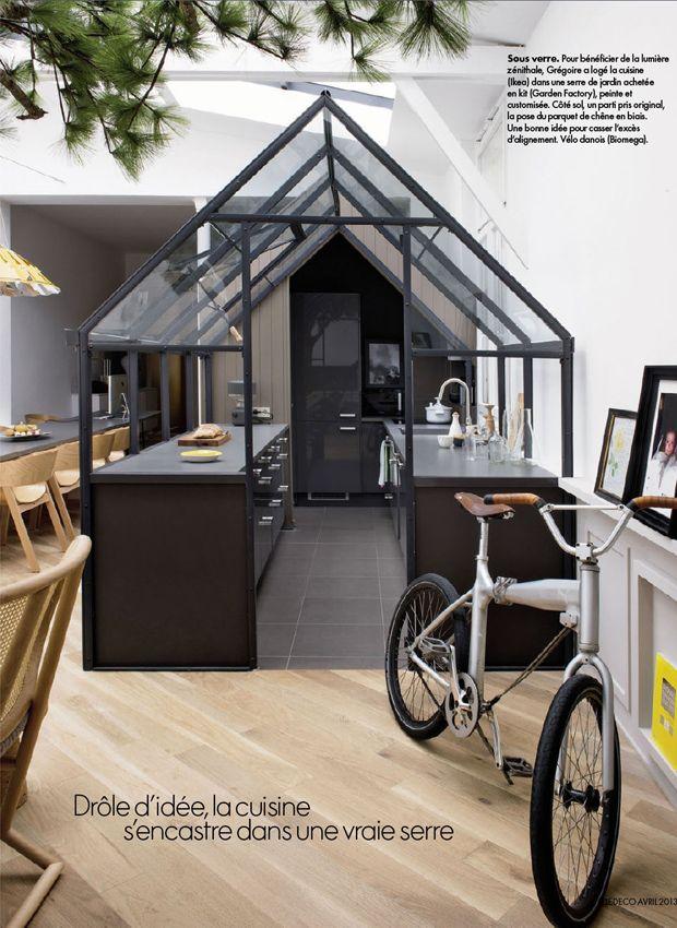 verrière cuisine indoor deco original