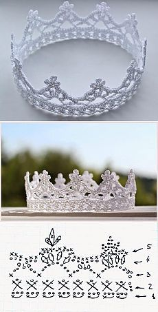 couronne princesse crochet