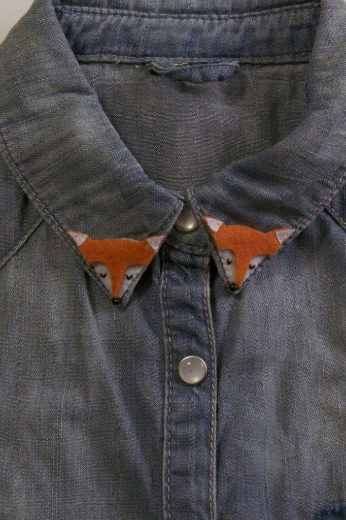 customisation diy col chemise