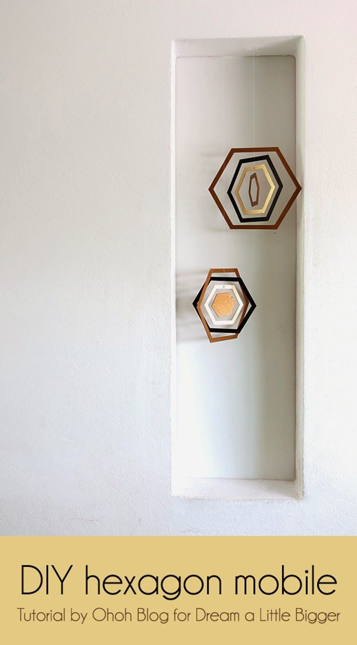 mobile hexagonal deco