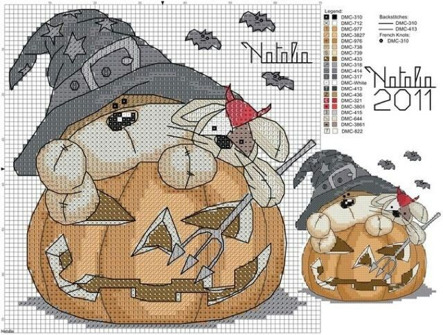 cross stitch halloween natalia