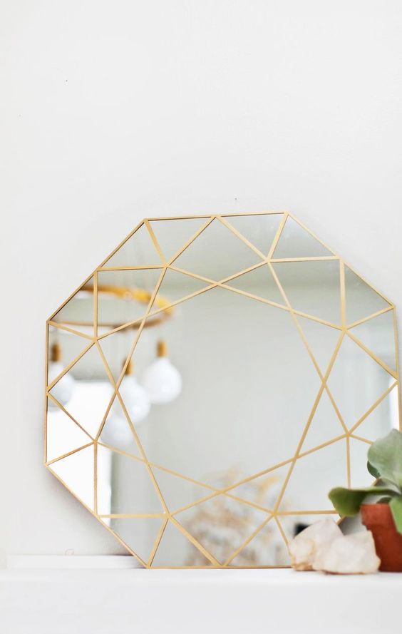 diy diamond mirror mitoir diamant